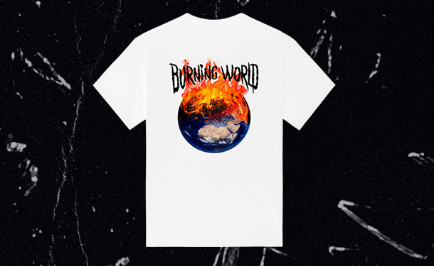 T-shirt Burning World